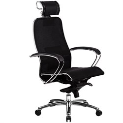 Эргономическое офисное кресло Metta SAMURAI S-2.03 Black Plus (Цвет обивки:Черный плюс, Цвет каркаса:Серебро) - фото 26859