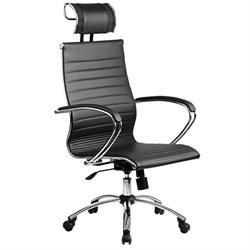 Офисное кресло Metta SkyLine KN-2 с 3D подголовником (Цвет обивки:Черный, Цвет каркаса:Серебро) - фото 26865