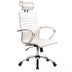 Офисное кресло Metta SkyLine KN-2 с 3D подголовником (Цвет обивки:Белый лебедь, Цвет каркаса:Серебро) - фото 26867