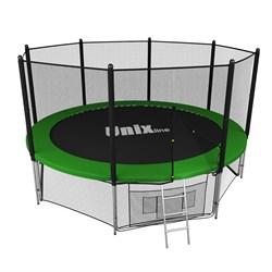 Батут UNIX line outside (366 см / 12 ft) (Цвет каркаса:Зеленый) - фото 27148