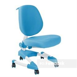 Подростковое кресло для дома FunDesk Buono (Цвет обивки:Голубой, Цвет каркаса:Серый) - фото 27383