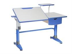 Парта-трансформер для школьника FunDesk Ballare с полкой и выдвижным ящиком (Цвет столешницы:Голубой, Цвет ножек стола:Голубой) - фото 27592
