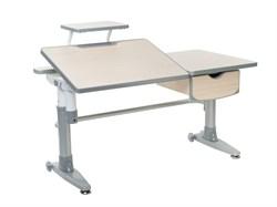Парта-трансформер для школьника FunDesk Ballare с полкой и выдвижным ящиком (Цвет столешницы:Серый, Цвет ножек стола:Серый) - фото 27599
