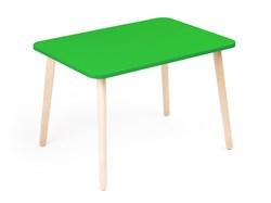 Детский столик Polli Tolli Джери зеленый (Цвет столешницы:Зеленый, Цвет ножек стола:Береза) - фото 27606