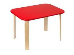 Детский столик Polli Tolli Мордочки красный (Цвет столешницы:Красный, Цвет ножек стола:Береза) - фото 27620