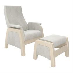 Кресло для кормления Milli Sky с пуфом (Цвет обивки:Verona Light Grey, Цвет каркаса:Дуб шампань, Материал спинки, сиденья:Ткань - ткань) - фото 27624