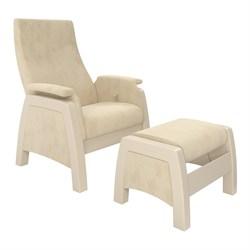 Кресло для кормления Milli Sky с пуфом (Цвет обивки:Verona Vanila, Цвет каркаса:Дуб шампань, Материал спинки, сиденья:Ткань - ткань) - фото 27626
