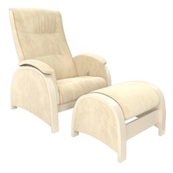 Кресло для кормления Milli Fly с пуфом (Цвет обивки:Verona Vanila, Цвет каркаса:Дуб шампань, Материал спинки, сиденья:Ткань - ткань) - фото 27637