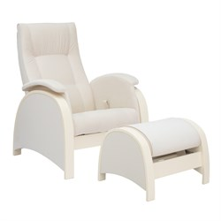 Кресло для кормления Milli Fly с пуфом (Цвет обивки:Trinity Сream, Цвет каркаса:Дуб шампань, Материал спинки, сиденья:Ткань - ткань) - фото 27640