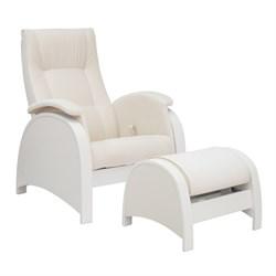 Кресло для кормления Milli Fly с пуфом (Цвет обивки:Trinity Сream, Цвет каркаса:Молочный дуб, Материал спинки, сиденья:Ткань - ткань) - фото 27643