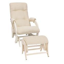 Кресло для кормления Milli Smile с пуфом (Цвет обивки:Verona Vanila, Цвет каркаса:Дуб шампань, Материал спинки, сиденья:Ткань - ткань) - фото 27653