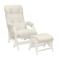 Кресло для кормления Milli Smile с пуфом (Цвет обивки:Trinity Сream, Цвет каркаса:Дуб шампань, Материал спинки, сиденья:Ткань - ткань) - фото 27657