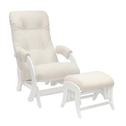 Кресло для кормления Milli Smile с пуфом (Цвет обивки:Trinity Сream, Цвет каркаса:Молочный дуб, Материал спинки, сиденья:Ткань - ткань) - фото 27661