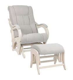 Кресло для кормления Milli Style с пуфом (Цвет обивки:Verona Light Grey, Цвет каркаса:Дуб шампань, Материал спинки, сиденья:Ткань - ткань) - фото 27668