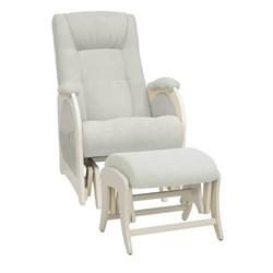 Кресло для кормления Milli Joy с пуфом (Цвет обивки:Verona Light Grey, Цвет каркаса:Дуб шампань, Материал спинки, сиденья:Ткань - ткань) - фото 27679