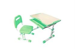 Комплект парта и стул трансформеры Fundesk Vivo (Цвет столешницы:Зеленый, Цвет ножек стола:Белый) - фото 28234
