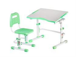 Комплект парта и стул трансформеры Fundesk Vivo 2 (Цвет столешницы:Зеленый, Цвет ножек стола:Белый) - фото 28250