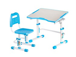 Комплект парта и стул трансформеры Fundesk Vivo 2 (Цвет столешницы:Голубой, Цвет ножек стола:Белый) - фото 28257