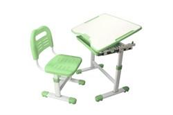 Комплект парта и стул трансформеры Fundesk Sole (Цвет столешницы:Зеленый, Цвет ножек стола:Белый) - фото 28267