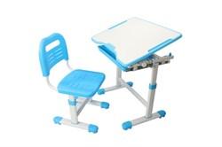 Комплект парта и стул трансформеры Fundesk Sole (Цвет столешницы:Голубой, Цвет ножек стола:Белый) - фото 28269