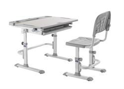 Комплект Cubby парта и стул трансформеры Disa (Цвет столешницы:Белый, Цвет ножек стола:Серый) - фото 28317