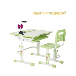 Комплект парта и стул FunDesk Lavoro new (Цвет столешницы:Зеленый, Цвет ножек стола:Белый) - фото 28439