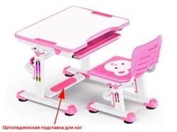 Комплект парта и стульчик Mealux BD-08 Teddy (Белый, Розовый) - фото 28536