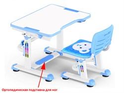 Комплект парта и стульчик Mealux BD-09 Teddy (Белый, Синий) - фото 28545