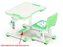 Комплект парта и стульчик Mealux BD-09 Teddy (Белый, Зеленый) - фото 28560