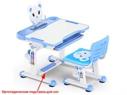 Комплект парта и стульчик Mealux BD-04 New XL Teddy (Белый, Синий) - фото 28576