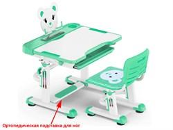 Комплект парта и стульчик Mealux BD-04 New XL Teddy (Белый, Зеленый) - фото 28591