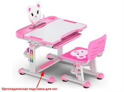 Комплект парта и стульчик Mealux BD-04 New XL Teddy (Белый, Розовый) - фото 28599