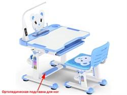 Комплект парта и стульчик Mealux BD-04 New XL Teddy (с лампой) (Белый, Синий) - фото 28607