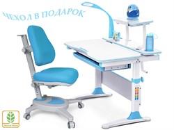 Комплект Mealux EVO-30 (парта Evo-Diego с лампой + кресло Y-110)(дерево) (Белый. Голубой) - фото 28660