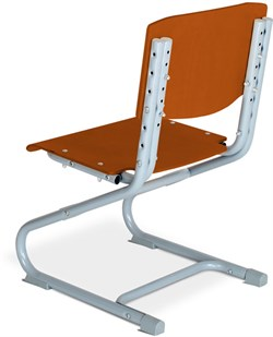 Растущий стул ДЭМИ ДЕРЕВО СУТ.01-01 (регулируется в 3-х плоскостях) (Цвет сиденья и спинки стула:Яблоня, Цвет каркаса:Серый) - фото 28715