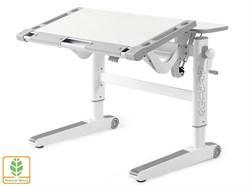 Детский стол Mealux ErgoWood M (Белый дуб, Серый) - фото 28719
