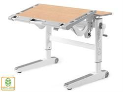 Детский стол Mealux ErgoWood M (Клен, Серый) - фото 28734