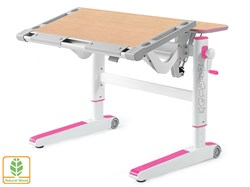 Детский стол Mealux ErgoWood M (Клен, Розовый) - фото 28738
