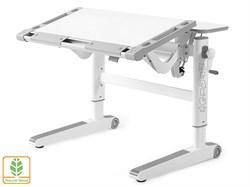 Детский стол Mealux ErgoWood L (Белый, Серый) - фото 28742