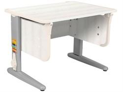 Парта ДЭМИ СУТ-41 75Х55 см (Цвет столешницы:Рамух белый, Цвет ножек стола:Серый, Цвет кромки:Бежевый) - фото 28891