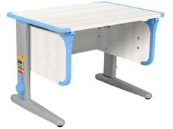 Парта ДЭМИ СУТ-41 75Х55 см (Цвет столешницы:Рамух белый, Цвет ножек стола:Серый, Цвет кромки:Ниагара) - фото 28896