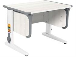 Парта ДЭМИ СУТ-41 75Х55 см (Цвет столешницы:Рамух белый, Цвет ножек стола:Белый, Цвет кромки:Серый) - фото 28911