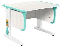 Парта ДЭМИ СУТ-41 75Х55 см (Цвет столешницы:Рамух белый, Цвет ножек стола:Белый, Цвет кромки:Аквамарин) - фото 28926