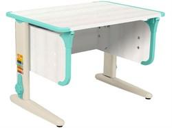 Парта ДЭМИ СУТ-41 75Х55 см (Цвет столешницы:Рамух белый, Цвет ножек стола:Бежевый, Цвет кромки:Аквамарин) - фото 28951