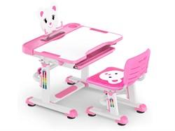 Комплект парта и стульчик Mealux BD-04 New Teddy (Белый, Розовый) - фото 28979