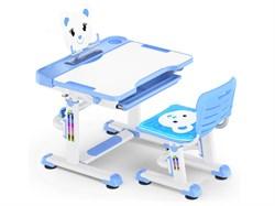 Комплект парта и стульчик Mealux BD-04 New Teddy (Белый, Синий) - фото 28982