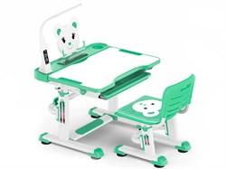 Комплект парта и стульчик Mealux BD-04 New Teddy (с лампой) (Белый,Зеленый) - фото 28987