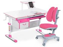 Комплект парта и кресло Mealux EVO-40 (Y-115) (Белый, Розовый) - фото 28998