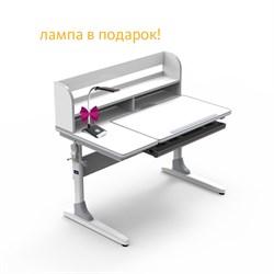 Парта-трансформер для школьника Nerine grey Cubby (Цвет столешницы:Белый, Цвет ножек стола:Белый, Цвет кромки:Серый) - фото 29003