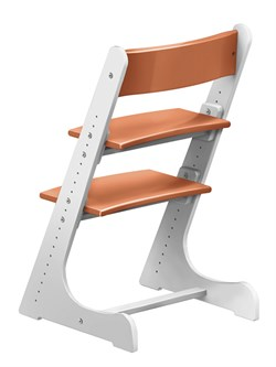 Детский растущий стул Конёк Горбунёк (Бело-оранжевый) - фото 32864